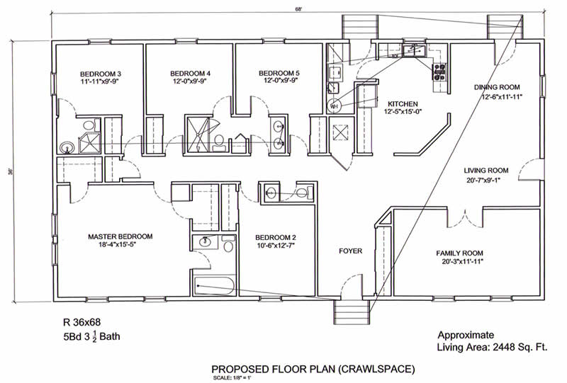 Ranch style house plans 5 bedroom escortsea for 5 bedroom ranch style homes